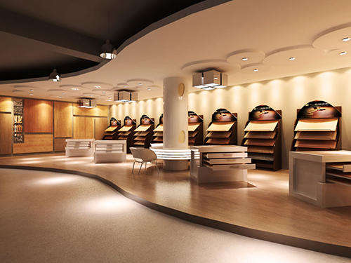 地板企业展厅设计效果图欣赏